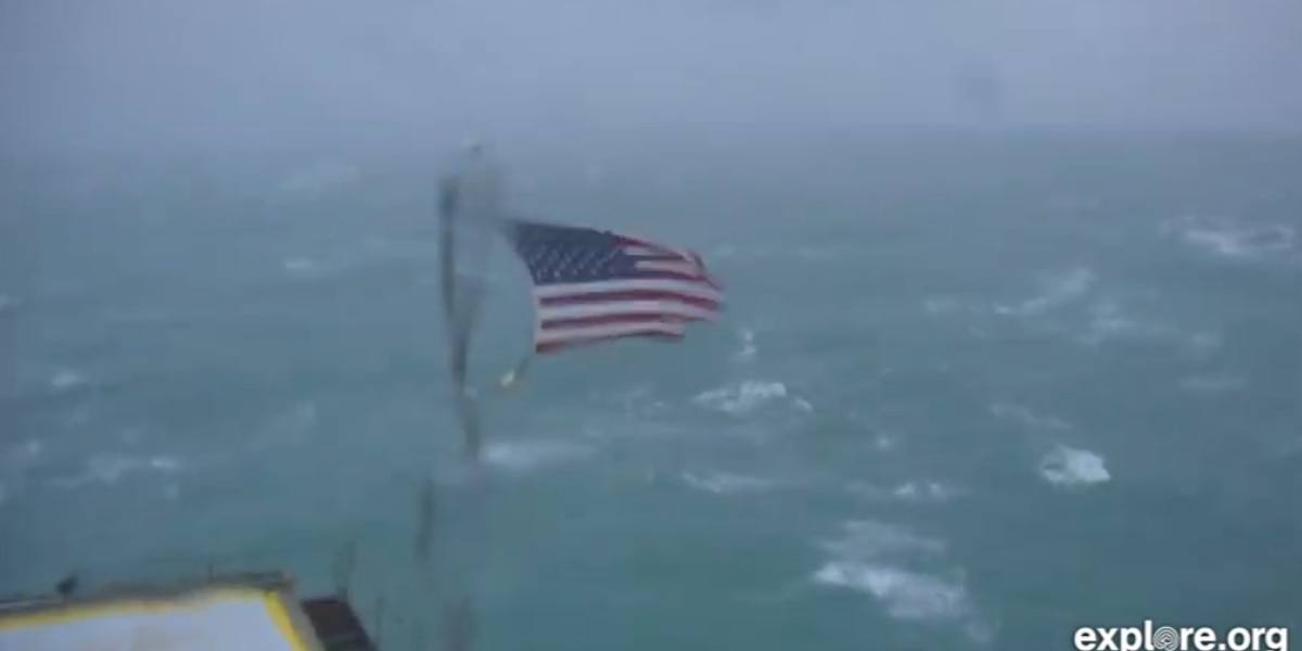 Watch Frying Pan Tower's LIVE camera view of Hurricane Dorian off N.C. coast