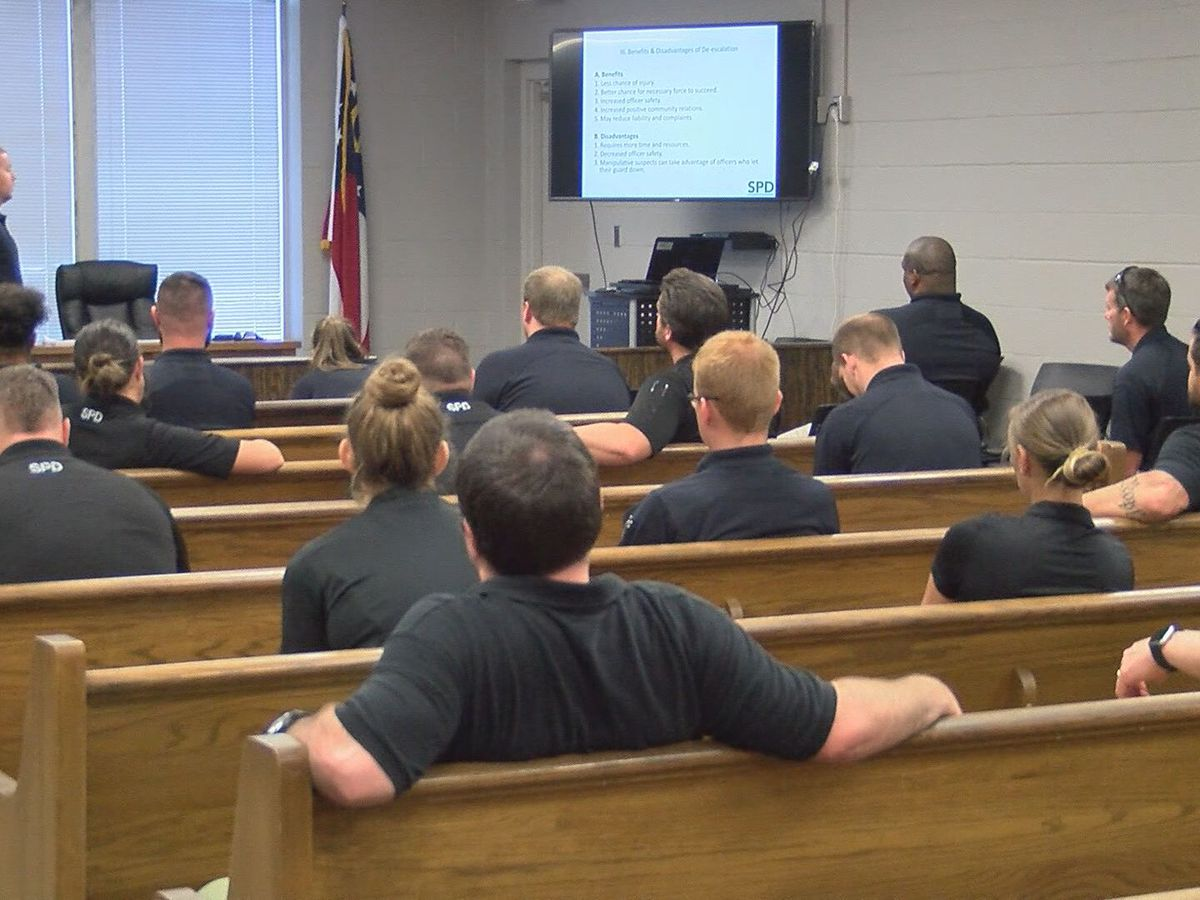 Statesboro officers undergo training on communication skills needed to deescalate situations