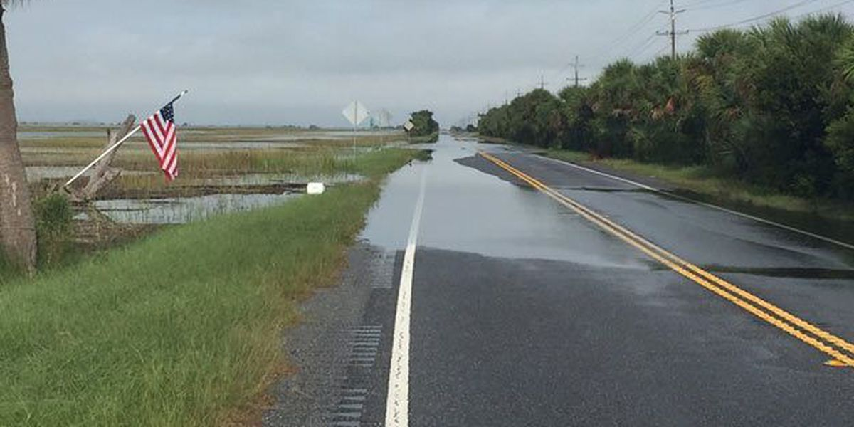 BE AWARE! Tidal flooding possible again this morning along US Hwy 80 heading to/from Tybee. Please plan accordingly.