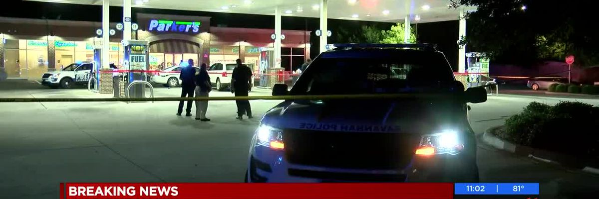 Heavy police presence at Parker's gas station on Skidaway Road