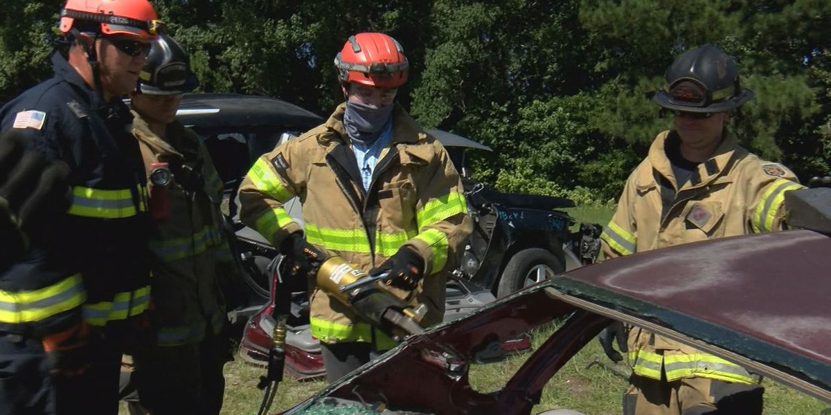 Savannah Firefighters practice life-saving techniques focused on car safety