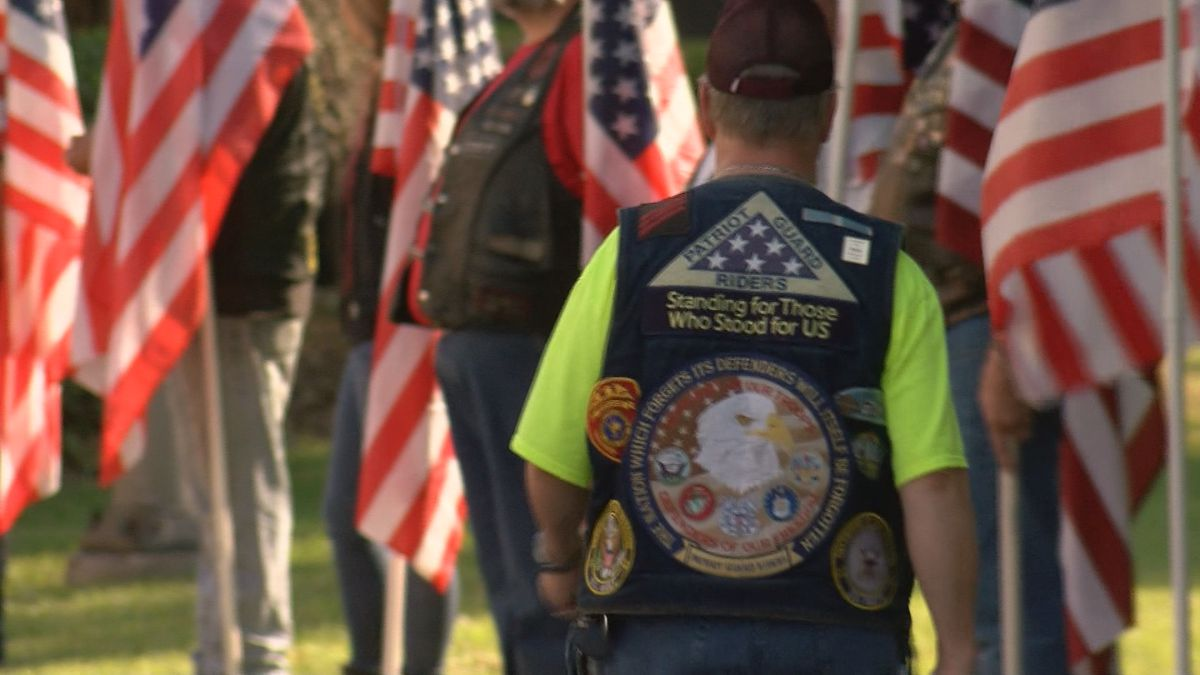 Patriot Guard stands watch at Sgt. Ansari funeral