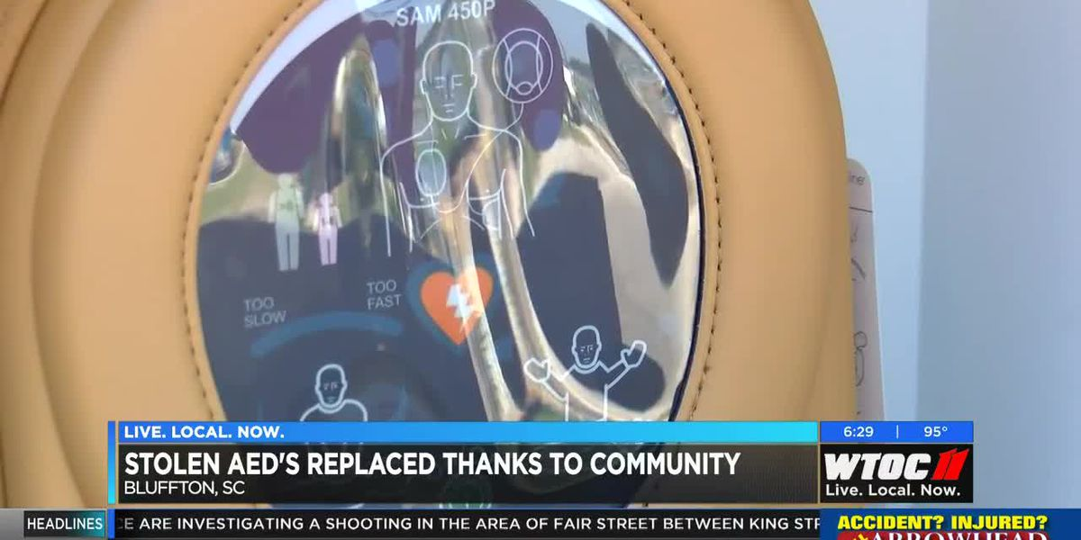 Stolen AEDs replaced by Bluffton community