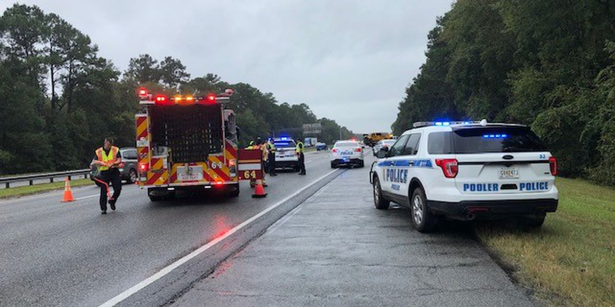 Crash causes delays on I-95 southbound near the I-16 exit