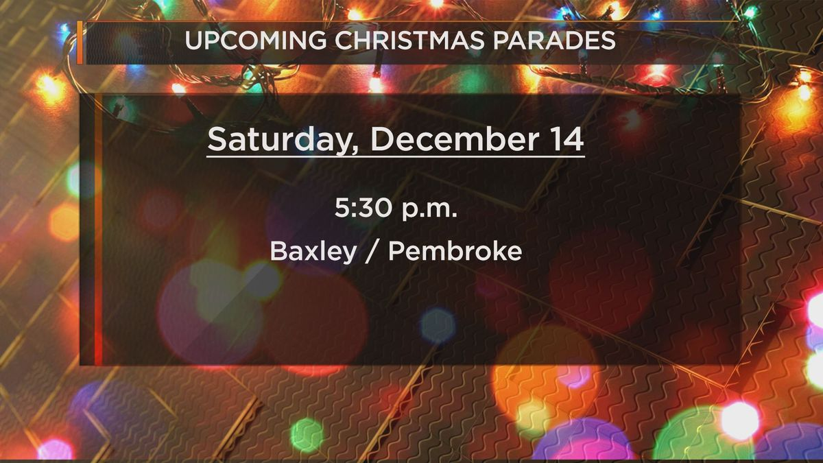 Baxley's Christmas Parade is this Saturday