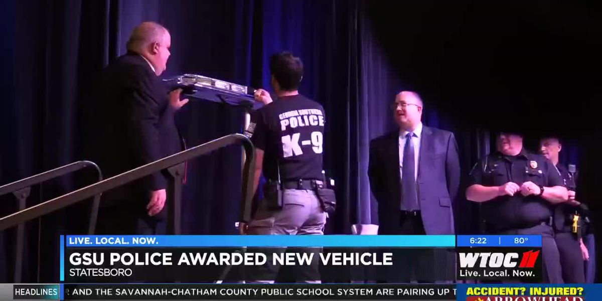 GSU Police awarded new vehicle to patrol traffic