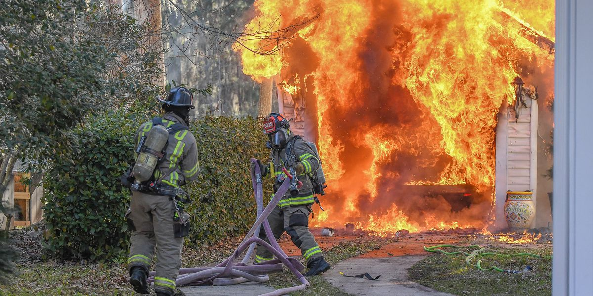 Bluffton Fire District responds to fully engulfed garage in Westbury Park Subdivision