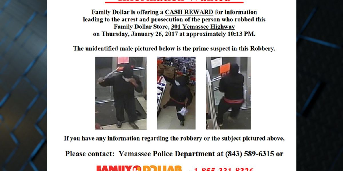 Family Dollar robbery in Yemassee