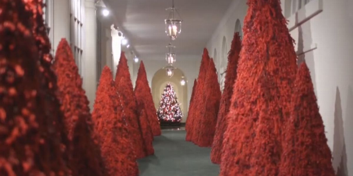 The White House is decked out for Christmas, decorations unveiled by first lady