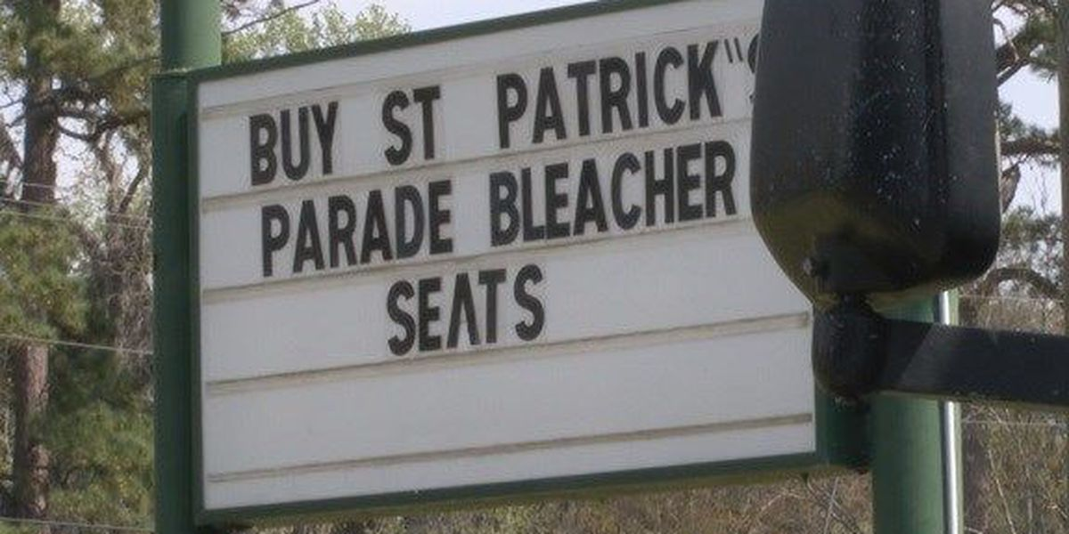 Bleacher seating for St. Patrick's celebration slimming down