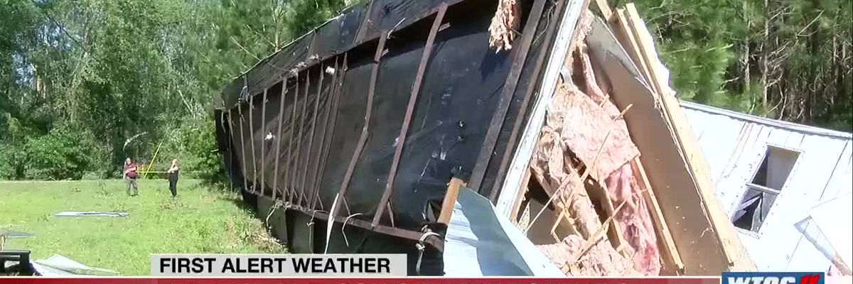 Father protected son when tornado lifted their Odum trailer off the ground