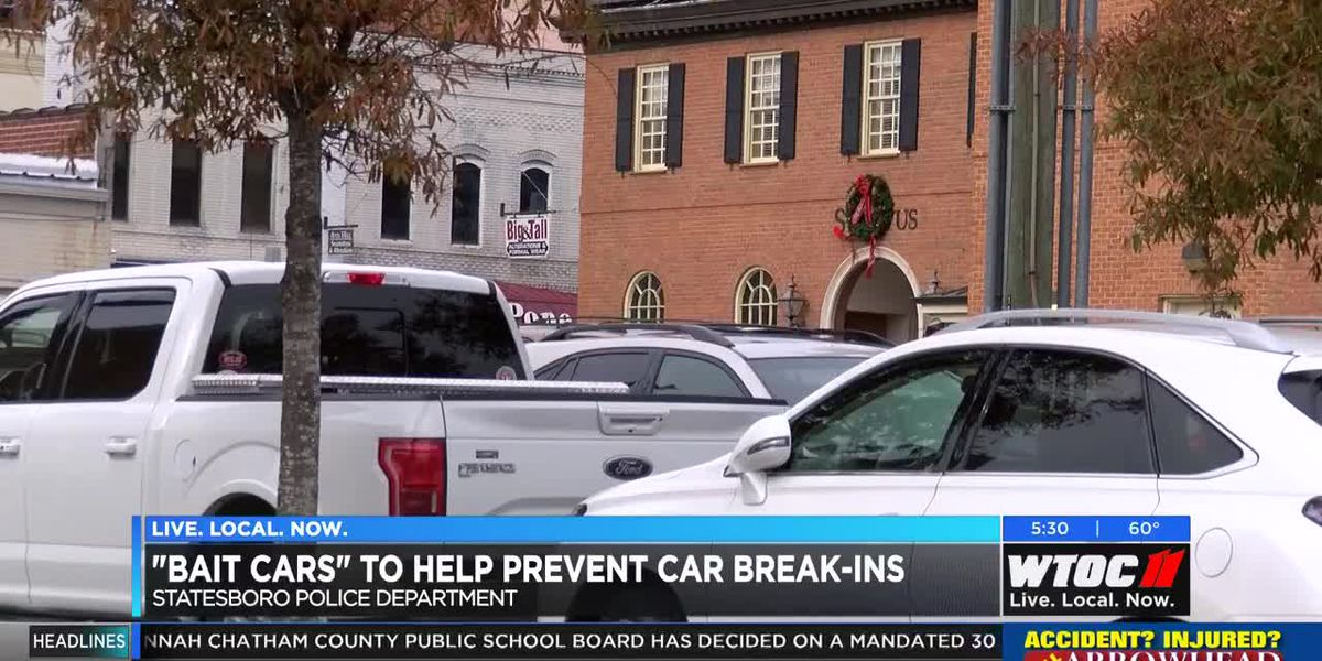 'Bait cars' help to prevent car break-ins
