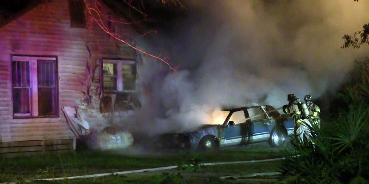 Car fire spreads to home, displaces family of 5 in Liberty County