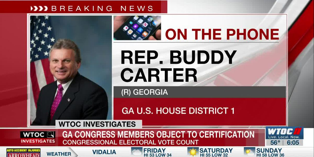 Rep. Carter clarifies why he objected to certifying election results after riot