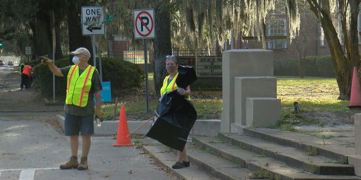 Dozens of volunteers participate in Great Savannah Cleanup 2020