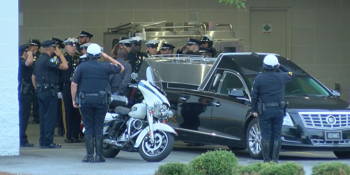 Fallen officer receives transport with honors to GBI crime lab