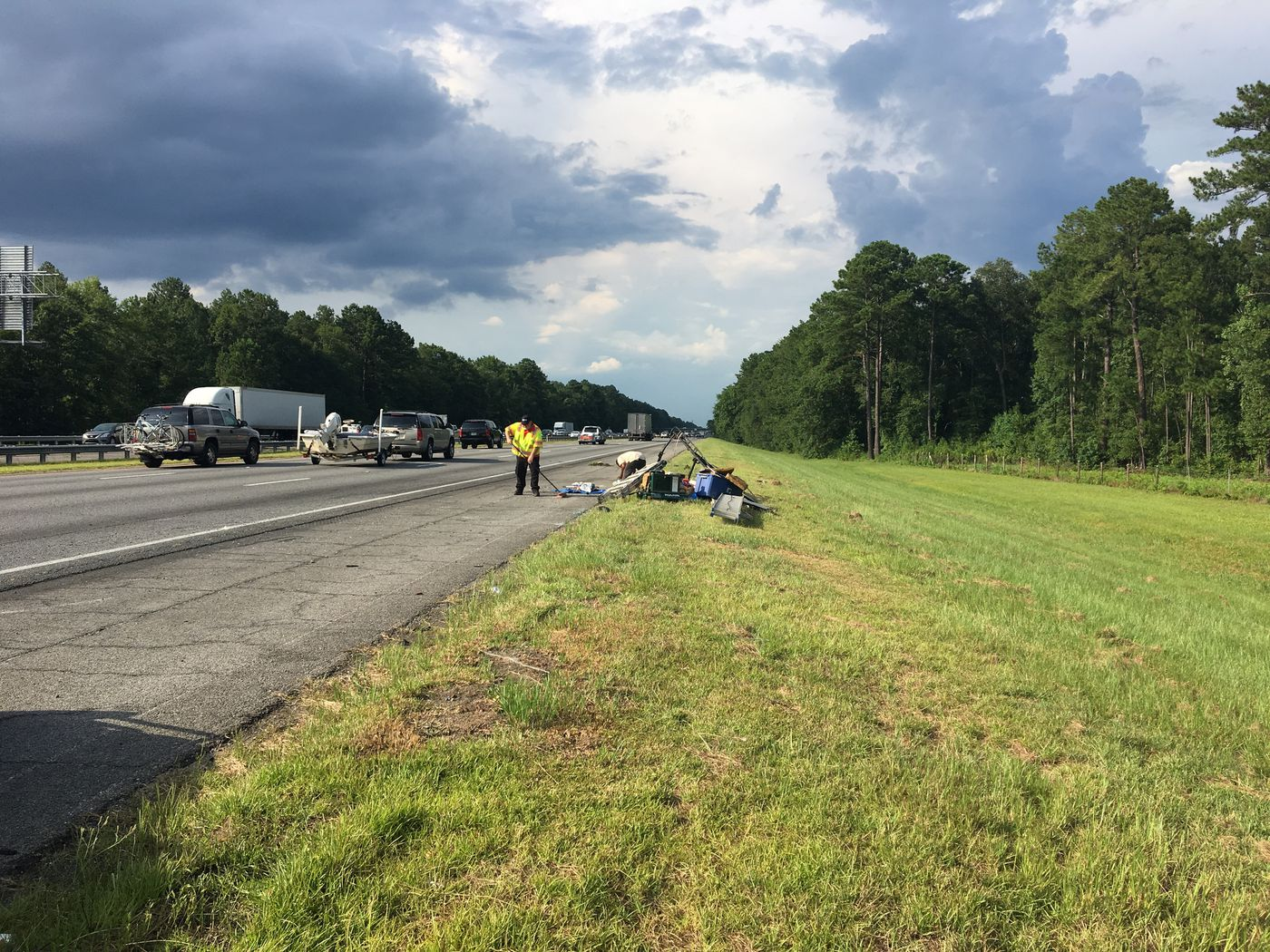 Wreck slows traffic on I-95 NB in Chatham County