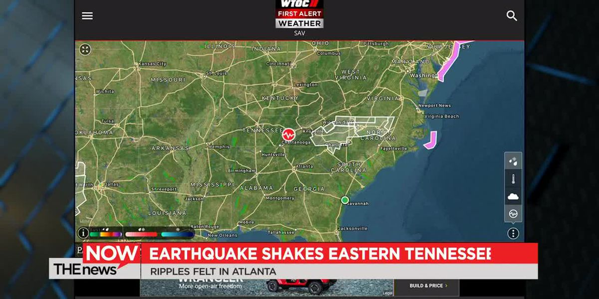 A strong aftershock was felt minutes after a 4.4 magnitude earthquake struck eastern Tennessee early Wednesday morning