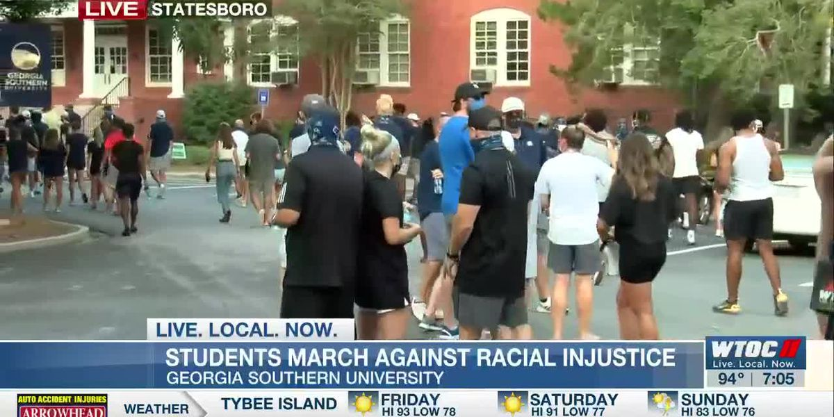 Georgia Southern University students plan peaceful march