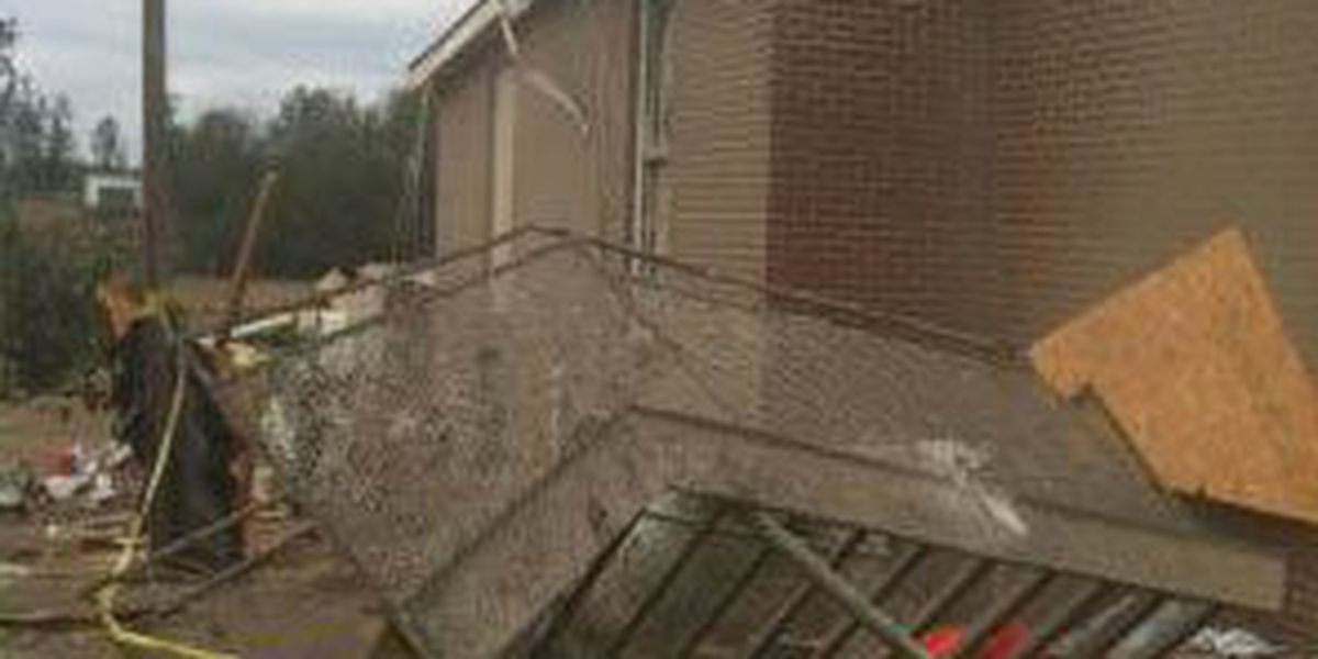 Storm blows off church steeple, roof