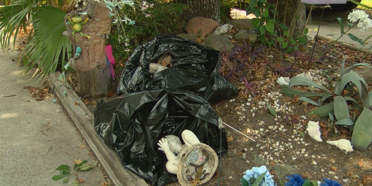 HOA puts memorial in trash bags; Yacht Cove neighbors rebuild it