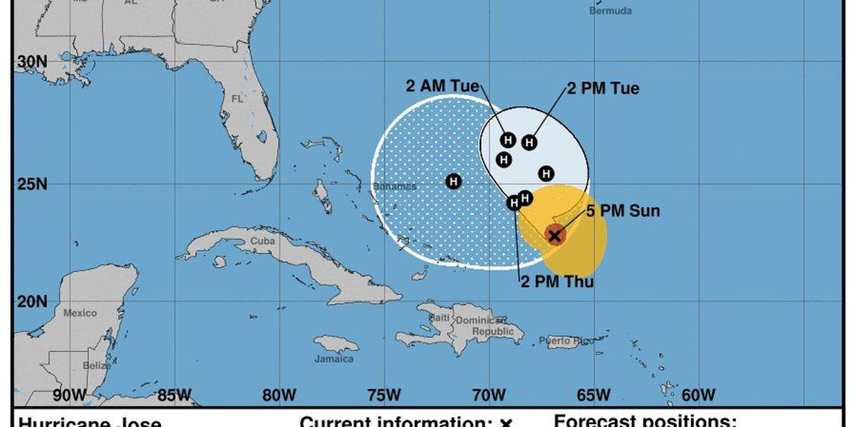 Uncertainty in Hurricane Jose's projected path