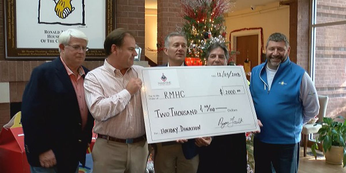 Ronald McDonald House receives donation from Savannah Maritime after-hours group