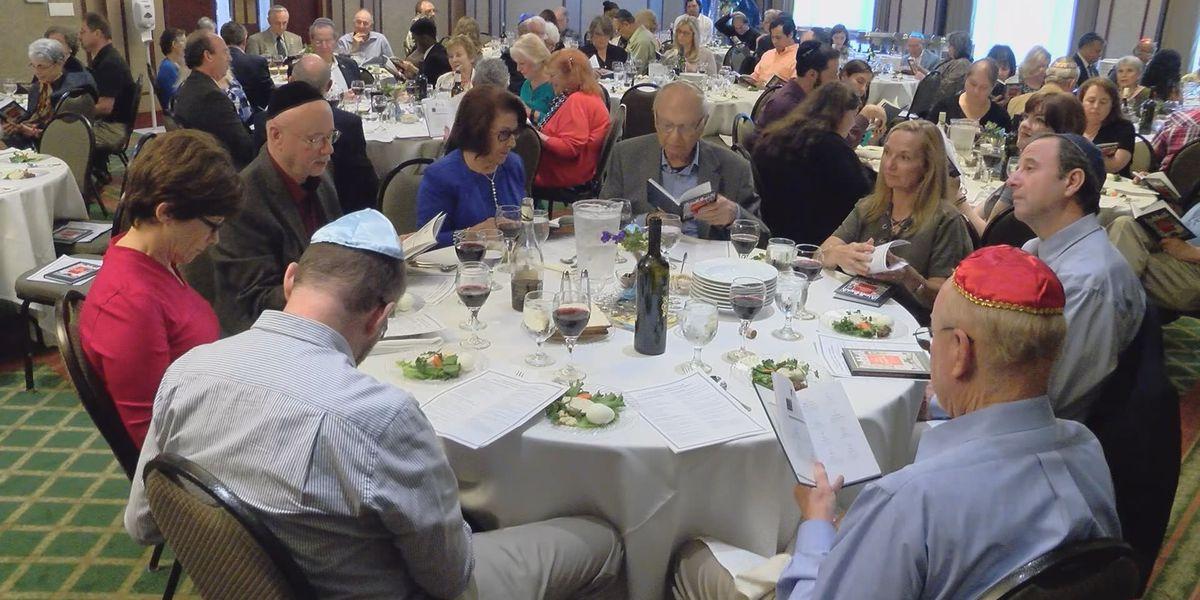 Second night seder at Congregation Mickve Israel in Savannah