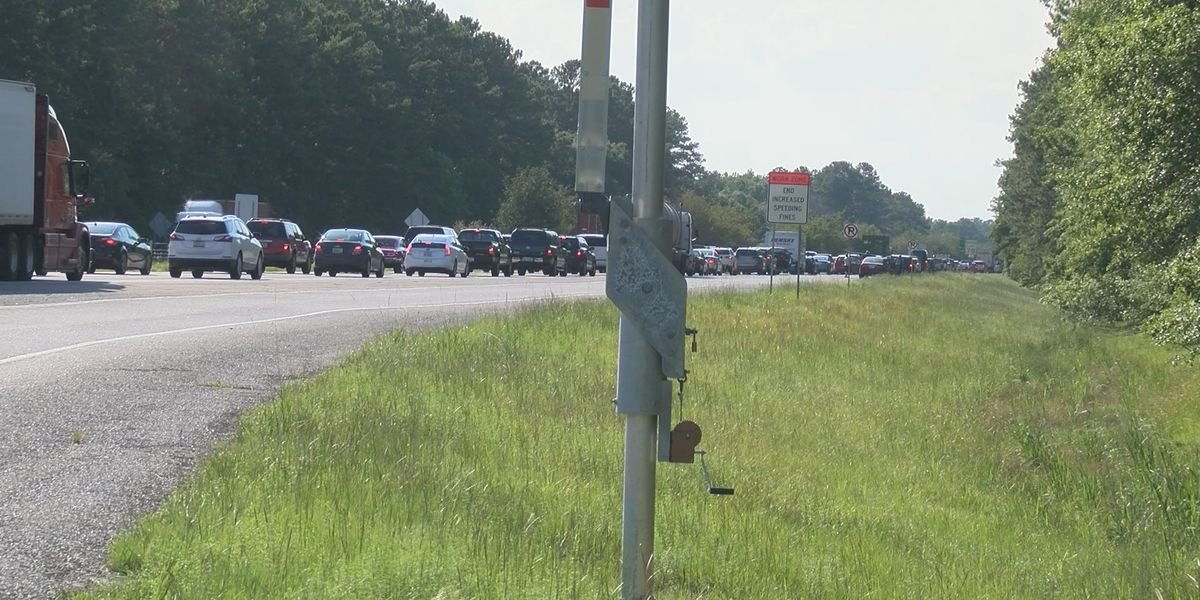1 arrested after wreck involving motorcycle slows traffic on I-16