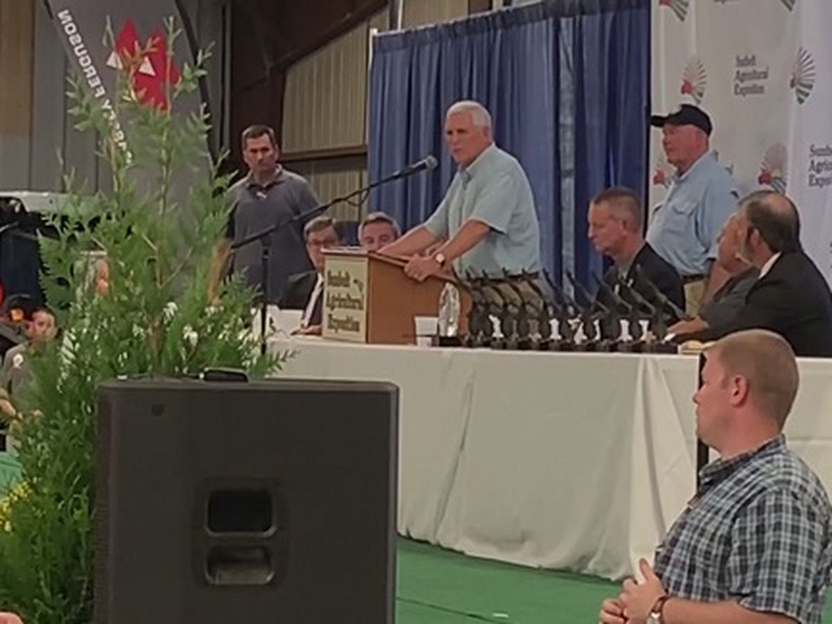 Vice President Pence speaks at Sunbelt Ag Expo in Moultrie