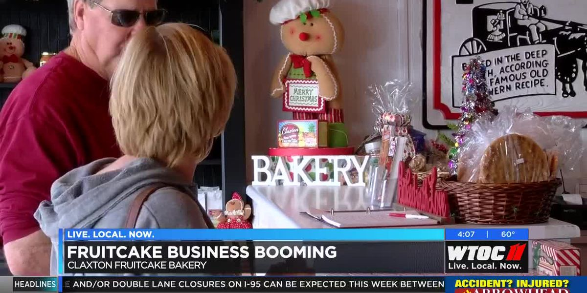 Claxton Bakery booming with Christmas fruitcake sales