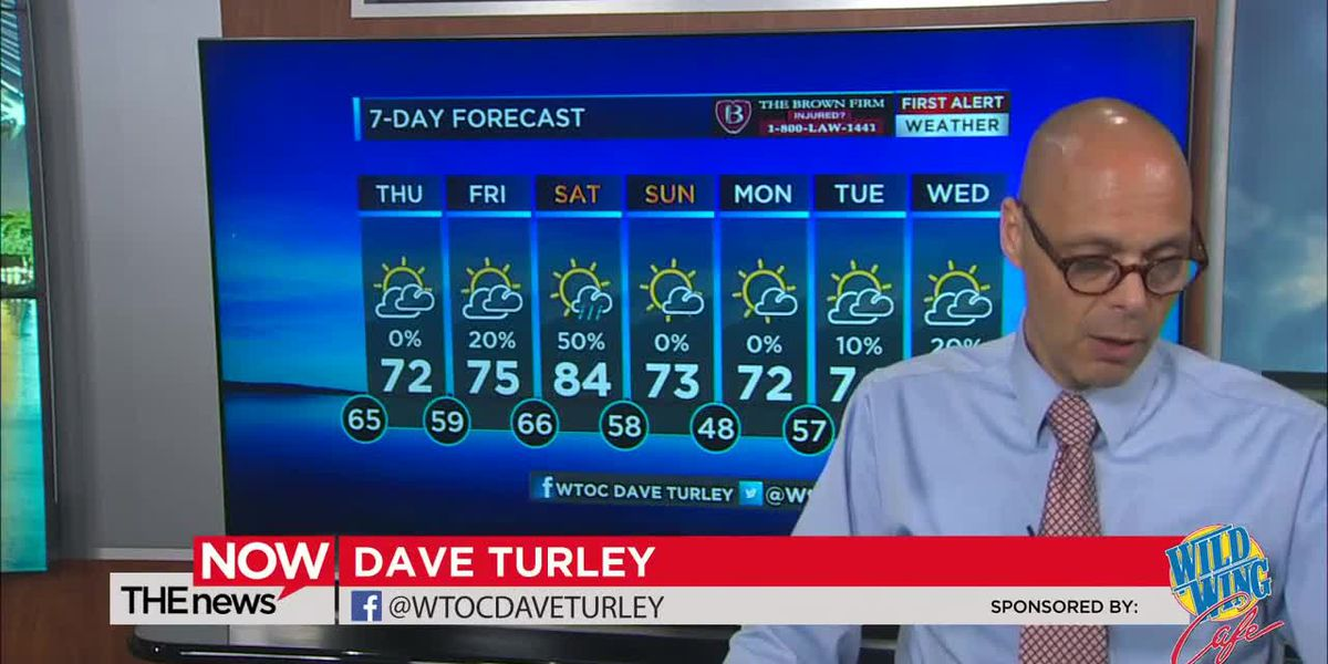 Cooler, drier air on the way. Watch The News Now for the latest weather updates.