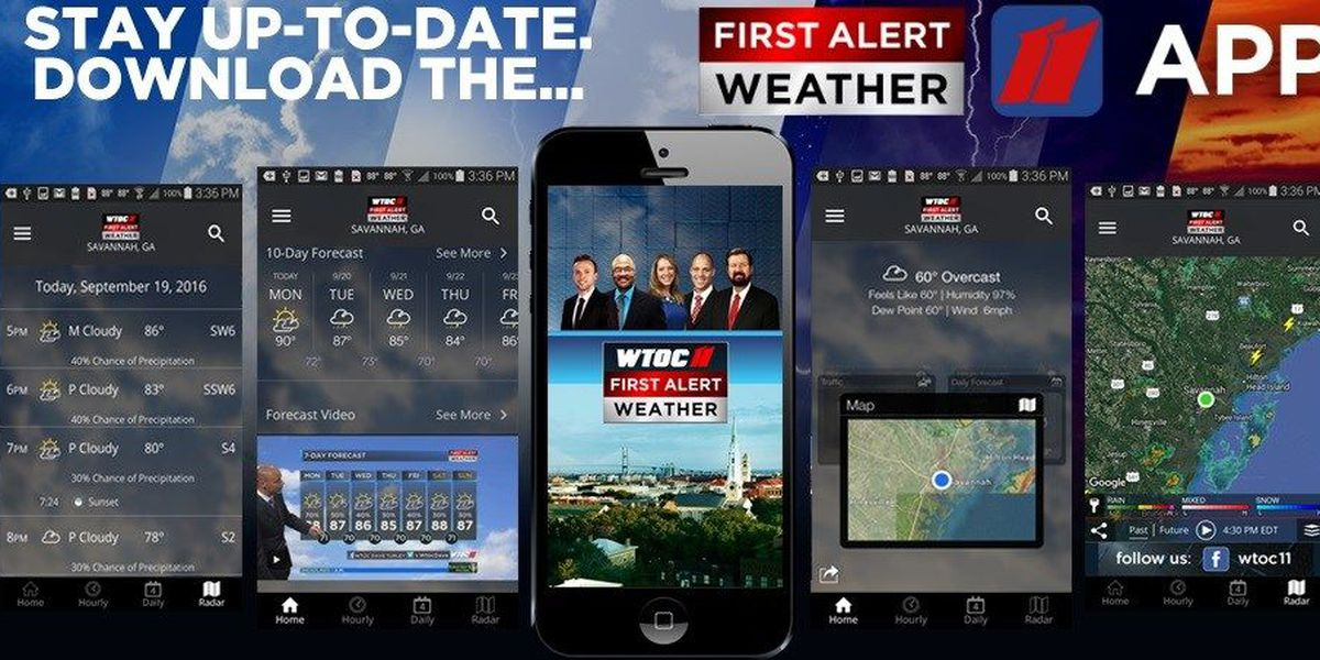 Download the WTOC FIRST ALERT WEATHER APP
