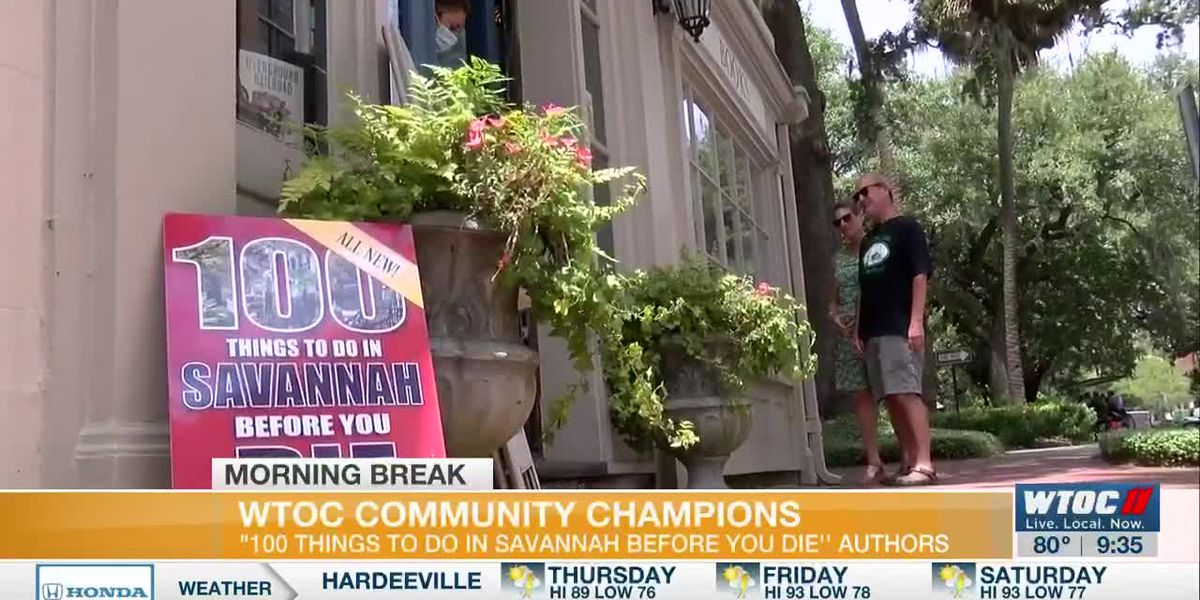 WTOC Community Champions: '100 Things To Do In Savannah Before You Die' authors