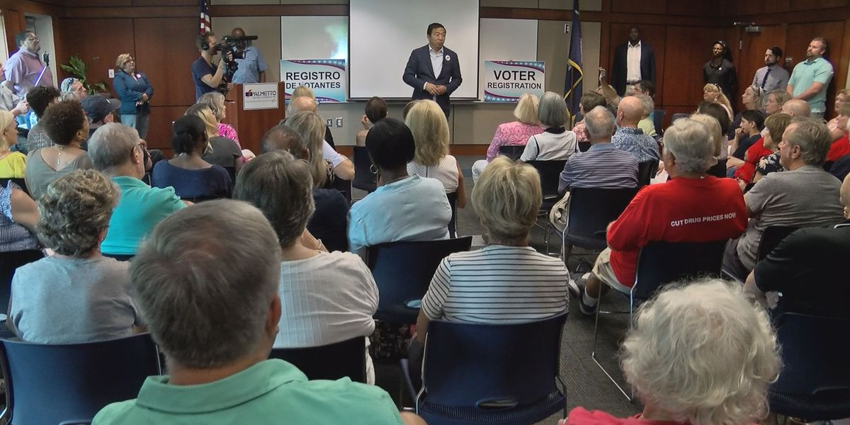 Andrew Yang makes stops in the Lowcountry during campaign visit