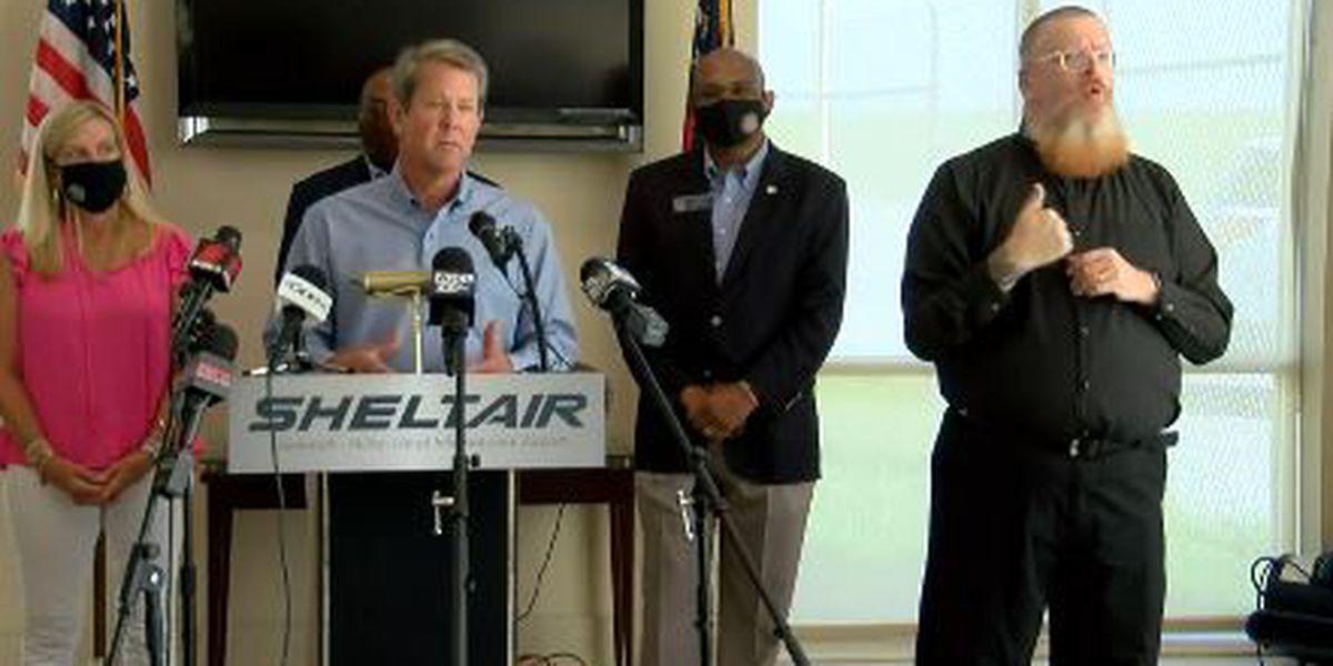 Gov. Kemp, Mayor Johnson discuss COVID-19 precautions ahead of Labor Day weekend