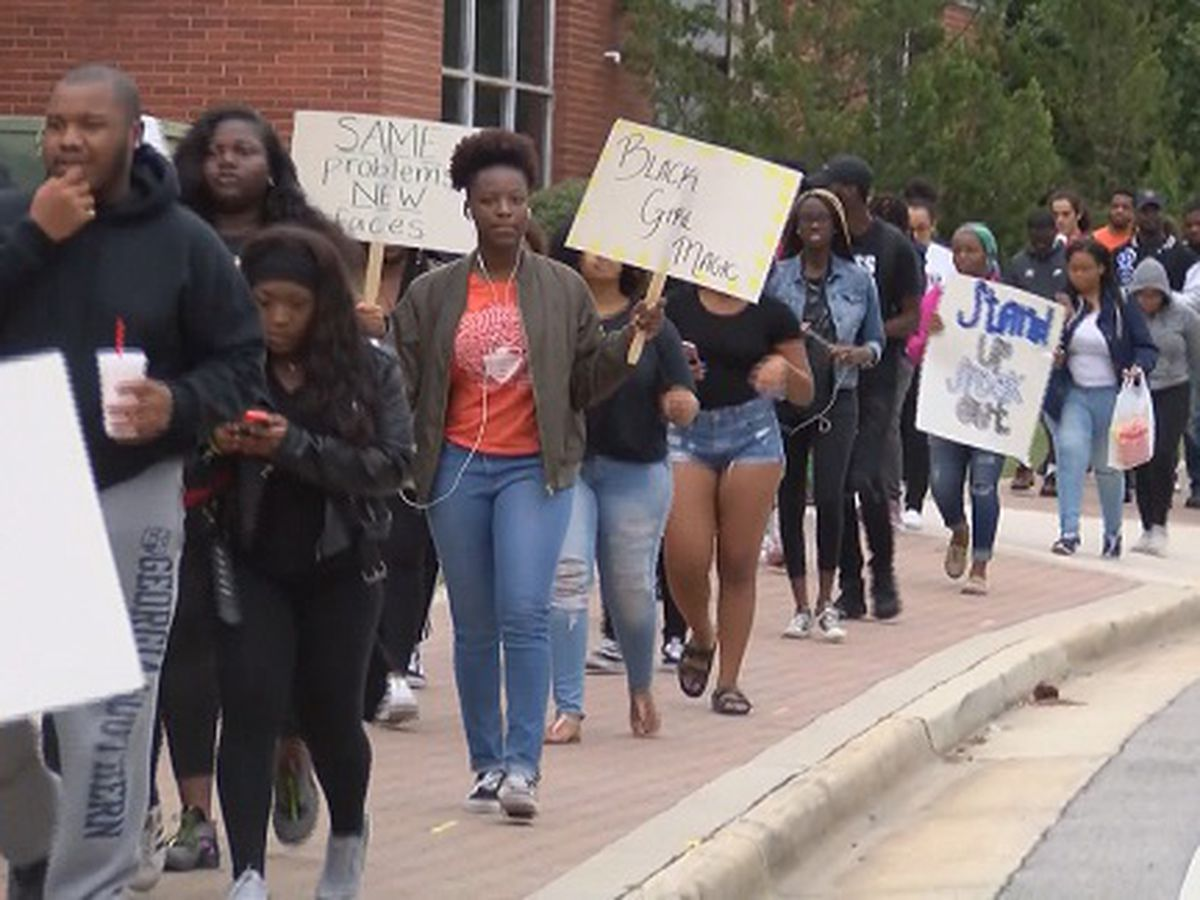 Georgia Southern students hold protest over racist comments