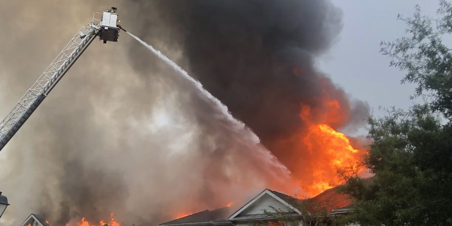 Apartment fire injures 3 firefighters, forces 11 families from their homes in Savannah