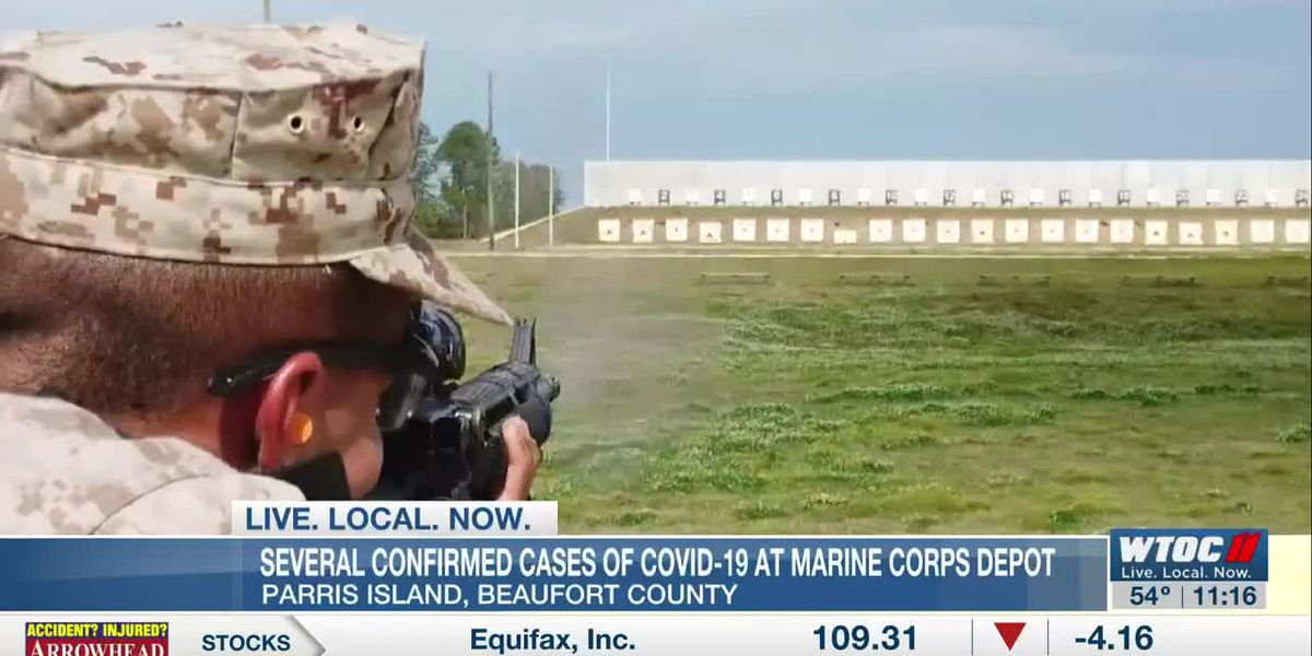 Several confirmed COVID-19 cases at Marine Corps Depot - Parris Island