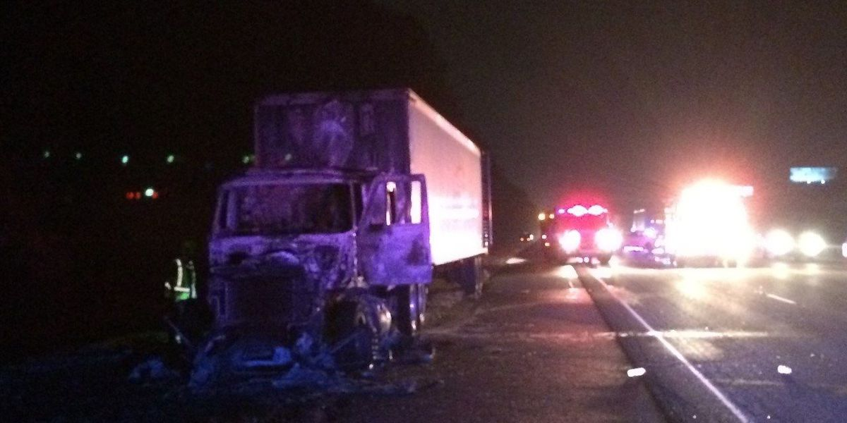 Tractor-trailer catches fire on I-95 NB after Port Wentworth exit