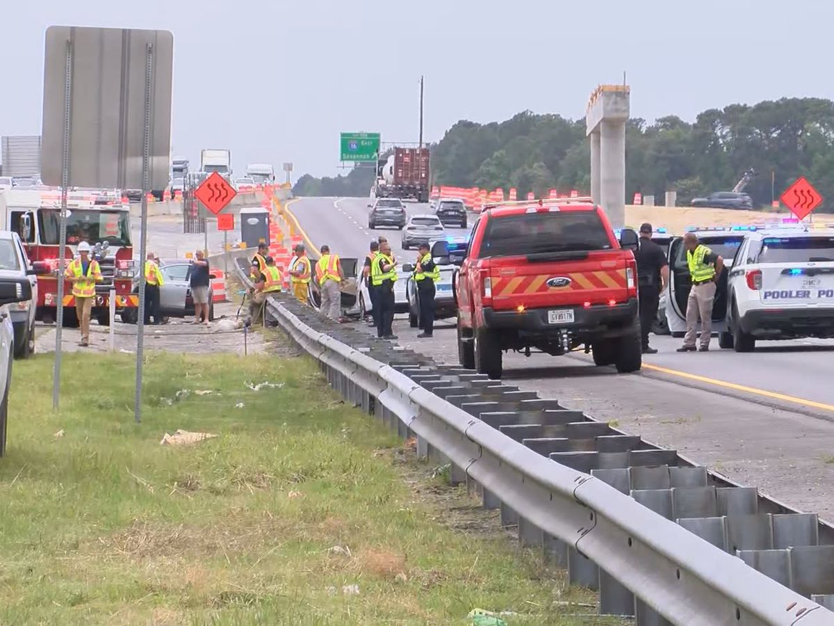 Police to interview driver of semi involved in crash on I-95 near I-16