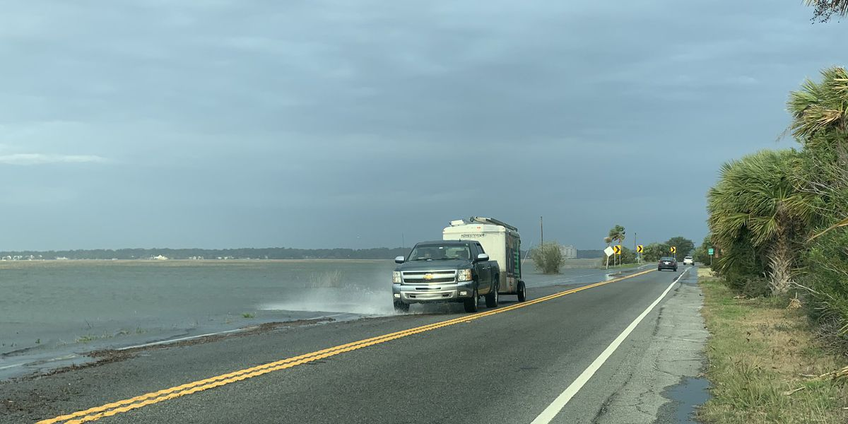 Coastal flooding could briefly close Hwy 80 Wednesday morning