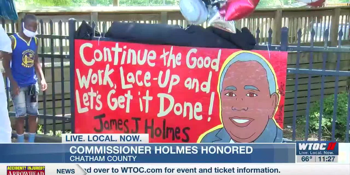 Memorial for Chatham County Commissioner James Holmes held in Beasley Park