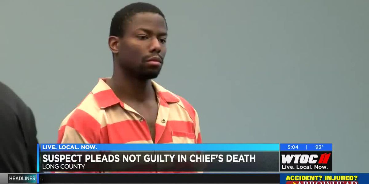 Suspect pleads not guilty in death of Ludowici police chief