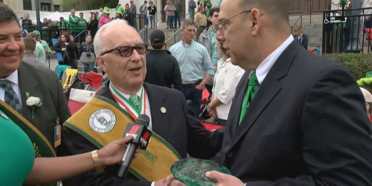 WTOC honored with plaque celebrating 25th anniversary of televising Feast of St. Patrick Mass