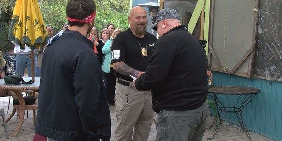 Retired SCMPD officer honored for helping save stabbing victim