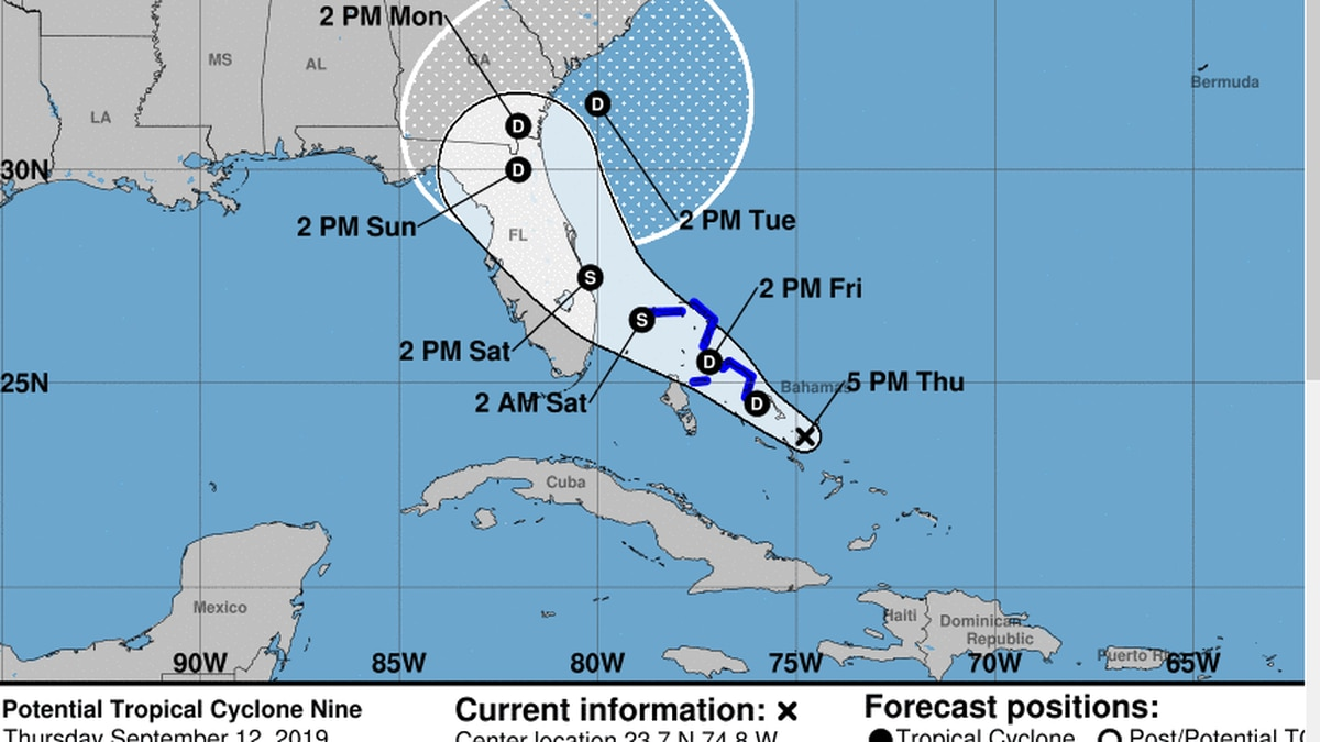 First advisory issued by the National Hurricane Center for Potential Tropical Cyclone 9