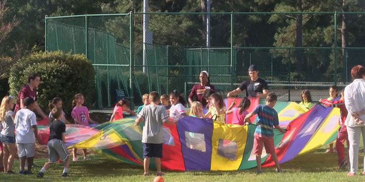 Richmond Hill 3rd graders participate in Fitness Days at ASU