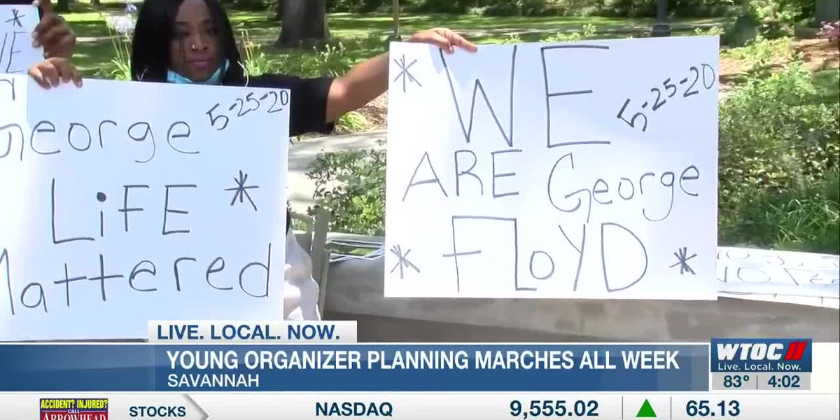 Young organizer planning marches all week to Savannah City Hall