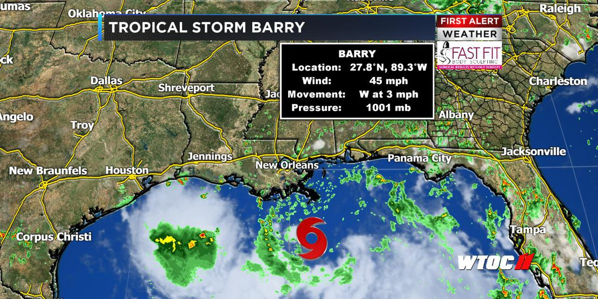 Tropical Storm Barry continues in the Gulf